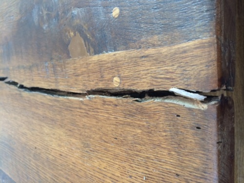 Repair Advice Farm Table Top Split Grain Woodworking Talk - How To Fix A Split Table Top