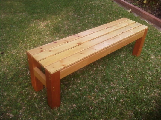 Wooden bench building
