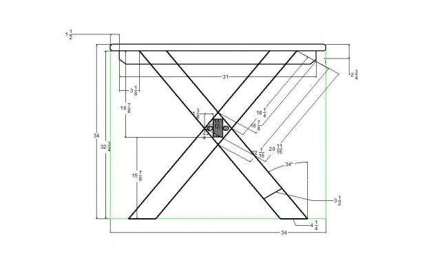 Measurements for a plywood (full sheet) topped picnic table