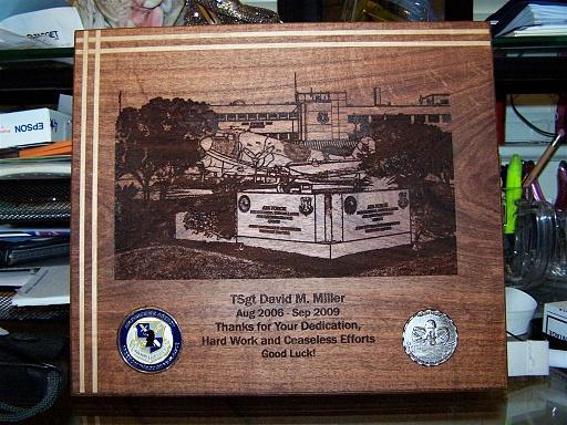 Going Away Plaque Woodworking Talk Woodworkers Forum