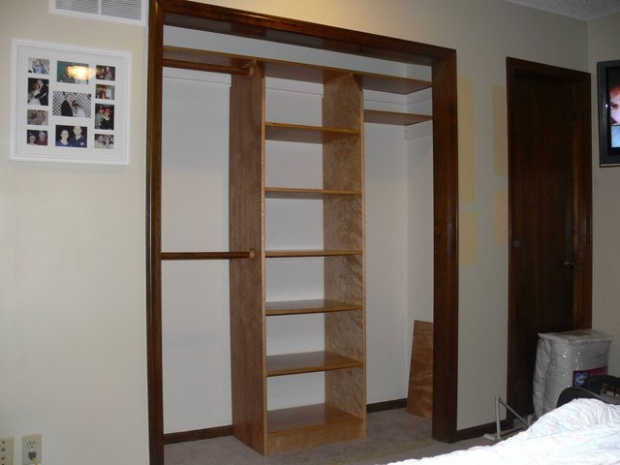 Do It Yourself Home Design: Looking For A Simple Finish For A Closet Organizer