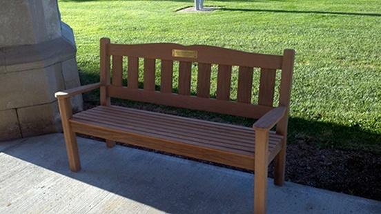 Gentil Garden Bench Redwood Bench