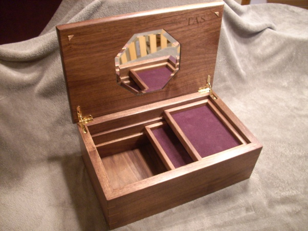 Walnut and Cherry Jewelry box Woodworking Talk Woodworkers Forum