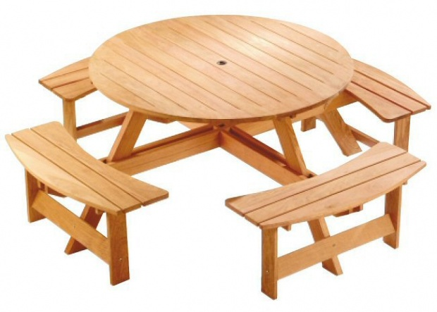 Round Picnic Table Plans Woodworking Talk Woodworkers Forum - Round picnic table with benches