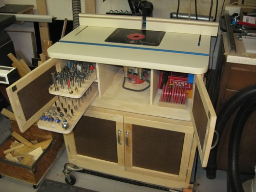 Building router table need help on accessories woodworking click image for larger version name router table top 2 greentooth Gallery