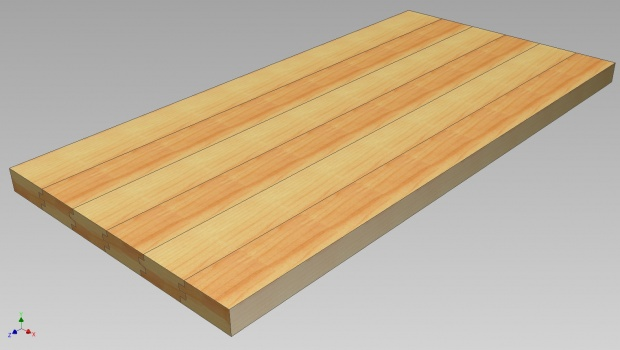 Orientation of wood when joining to create surfaces. Pics ...