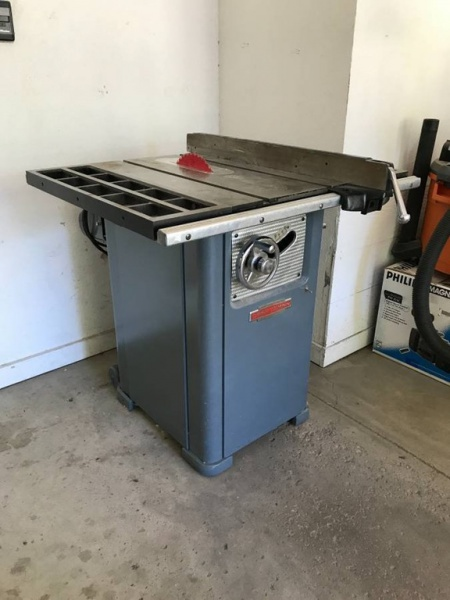 Thoughts On Old Craftsman Table Saw Model 103 22451