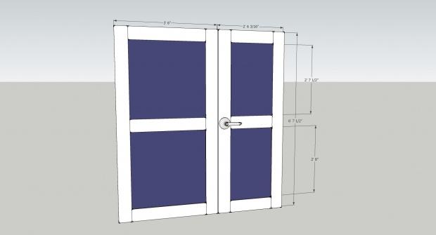 Diy Shed Door Design diy simple sliding barn doors theturquoisehomecom Click Image For Larger Version Name Shed Doorsjpg Views 1091 Size