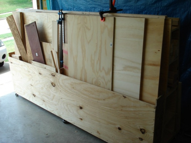 Mobile Plywood Storage Cart