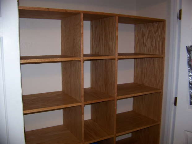 Built twin units separately, fit them in closet then joined them with ...