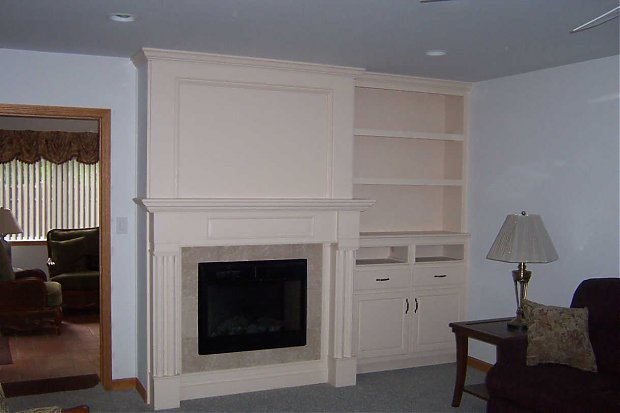 Click Image For Larger Version Name: Shemo Built Ins 028 Views  Built In Electric Fireplace
