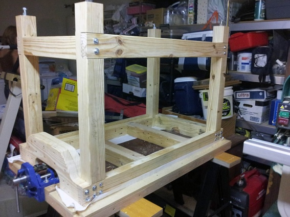 Click image for larger version Name Table assembly 02.jpg Views 919 Size & solid core doors - bench build - Woodworking Talk - Woodworkers Forum