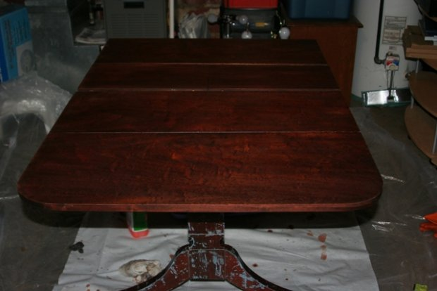 Refinishing Dining Table Woodworking Talk Woodworkers Forum Click Image For  Larger Version Name Tableg Views 12795