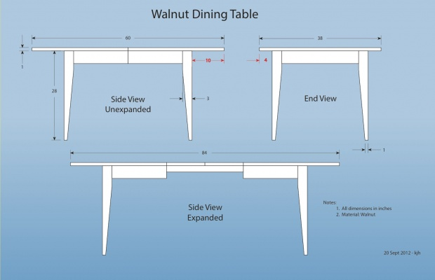 Need Help W/ Design Proportions For Dining Room Table