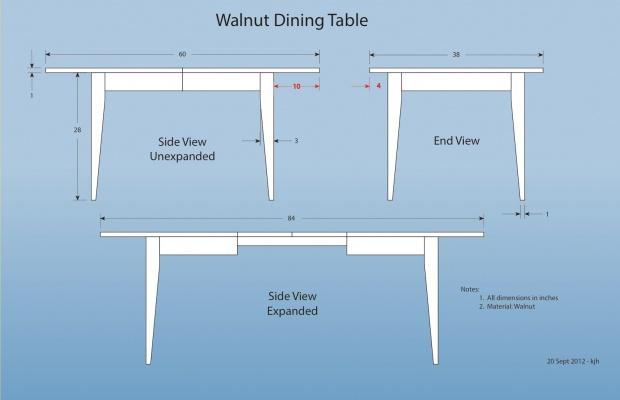 Dining Room Table Leg Location