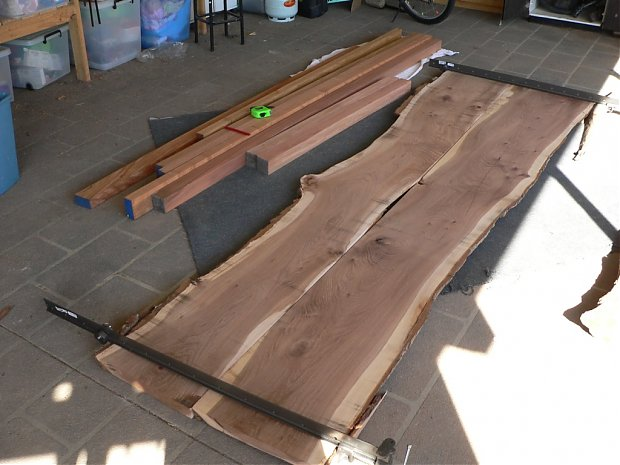 Timber Slab Dining Table - Woodworking Talk - Woodworkers Forum