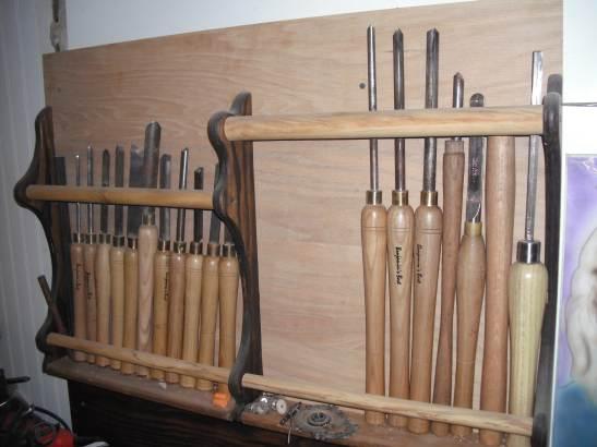 Wood Lathe Tool Storage Rack