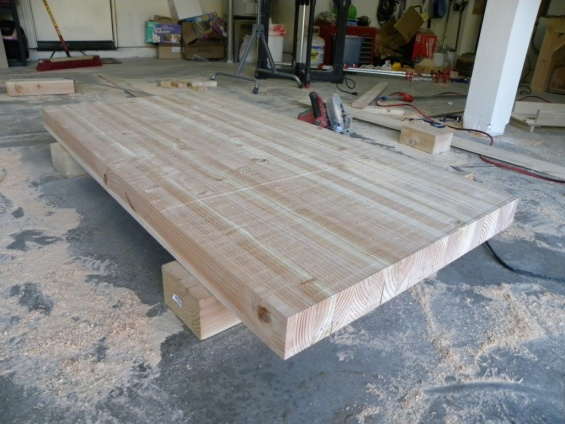Need Help With Building A Workbench Top With Glued 4x4s