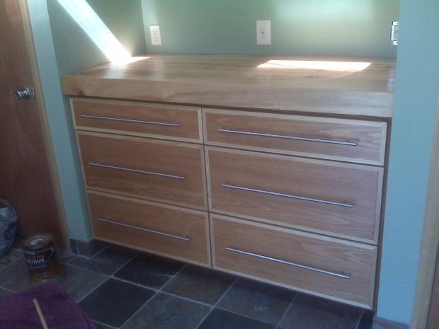 built in dresser plans