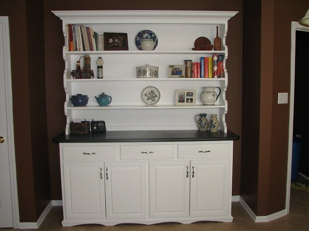 Good Click Image For Larger Version Name: White Hutch W Ith Avonite Top Views
