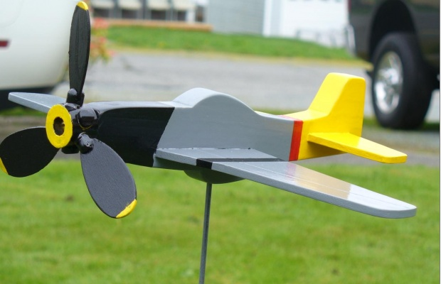 Click Image For Larger Version Name Woodworking P 51 Mustang WhirlyGig Views