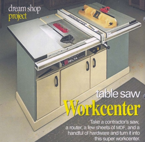Table Saw Router Plans