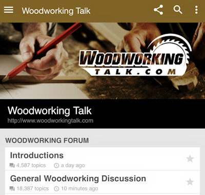 Using Woodworkingtalk Com From Your Phone Woodworking Talk
