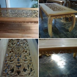 create a table of solid teak wood
