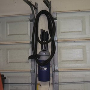 The Shop Vac Hangup is for sale to anyone who wants a shop vac that cleans well. Dust Control solution it is NOT...