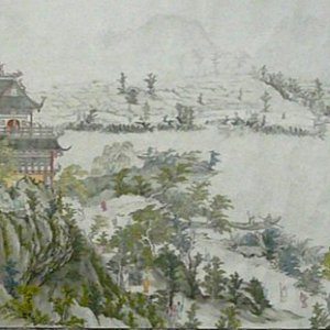 A part of the Giant Traditional Chinese Painting