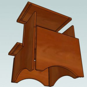 Design Details for LOMLs step stool from below.