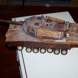 tank stuff 087, left view, notice sprocket torn off along with the machine guns and bustle rack.