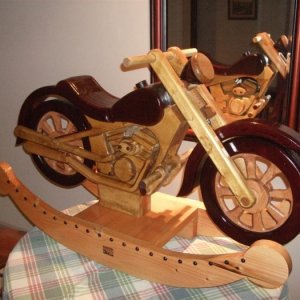 Side view of my son's new rocking bike:)
