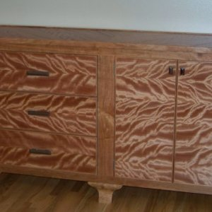 Butchers hutch??  Solid cherry with Okume veneer
