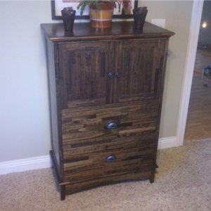 This is the matching dresser that I built after I completed the nightstand. I learned a lot on this build and applied that knowledge towards the next