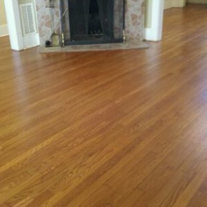 white oak with stain.