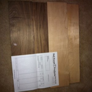 Raw stock : Rock Maple and Walnut