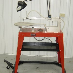 Scrollsaw stand and shelf