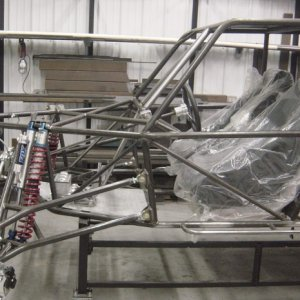 Metal rack and buggy stand