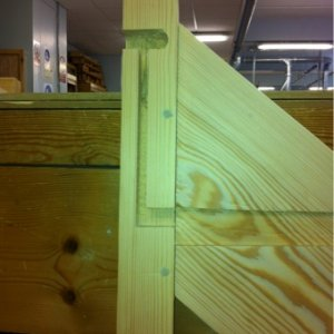 Newel post and string....