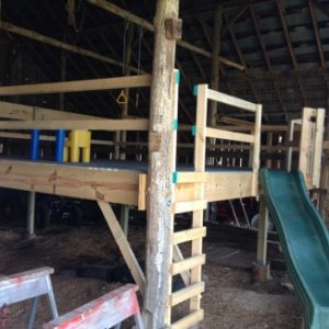 Playground in our barn