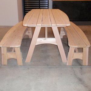 Cedar Picnic Table and benches