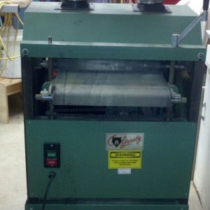Grizzly G1079 Dual Drum Sander (Feed side)