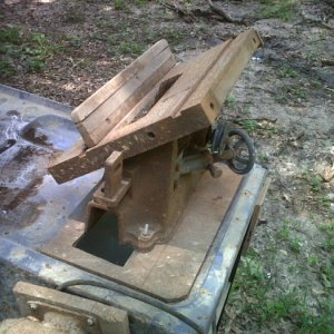 "IMG 20120617 00279  Latest find. early 1930s  Walker Turnner 8"" table saw"