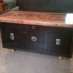 WWII Trunk Table