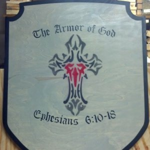 A custom shield i did for someone in my family..:)