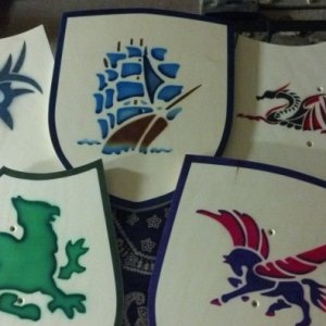 Second set of shields i did...added some different shapes and more custom airbrushing