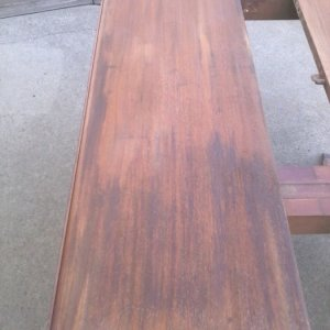 Black inclusion marks on top plank