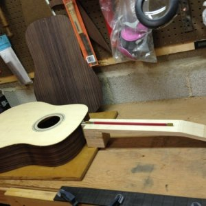 Build #2. Neck blank w/truss rod. Neck will be mostly hand carved from this point on.