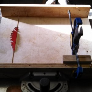 Table saw miter cut sled